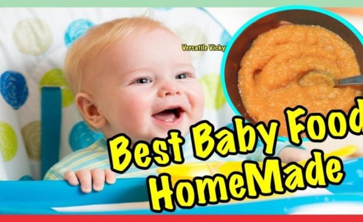 Baby Food 6 Months Plus Apple Carrot Puree Homemade Baby Food Recipe