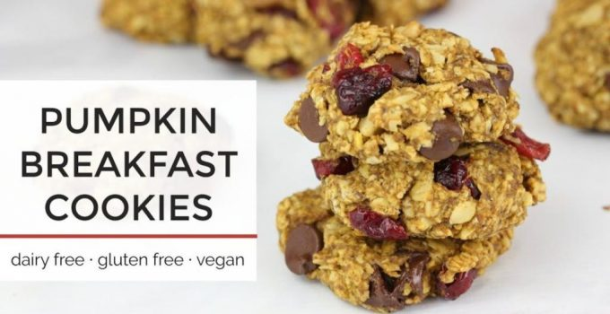 Pumpkin Breakfast Cookies Easy Healthy Vegan Cookie Recipe