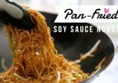 Pan Fried Soy Sauce Noodles Thanksgiving Leftover Turkey Recipe