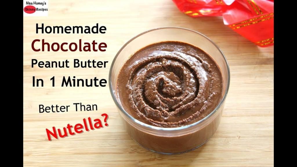 Homemade Chocolate Peanut Butter In 1 minute How To Make Peanut Butter In MixieMixer Grinder