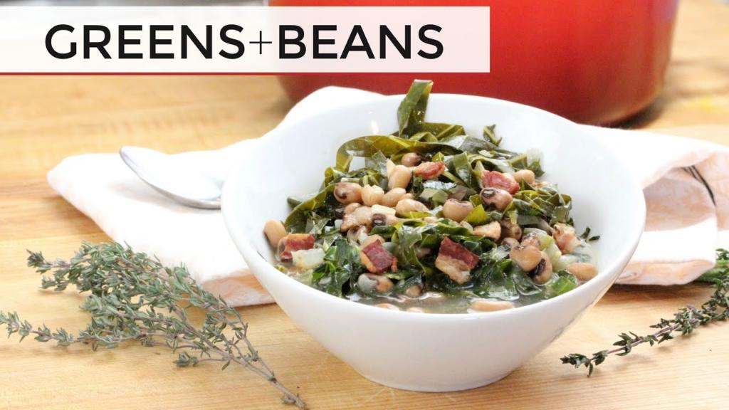 How To Make Collard Greens and Black Eyed Peas Greens Beans