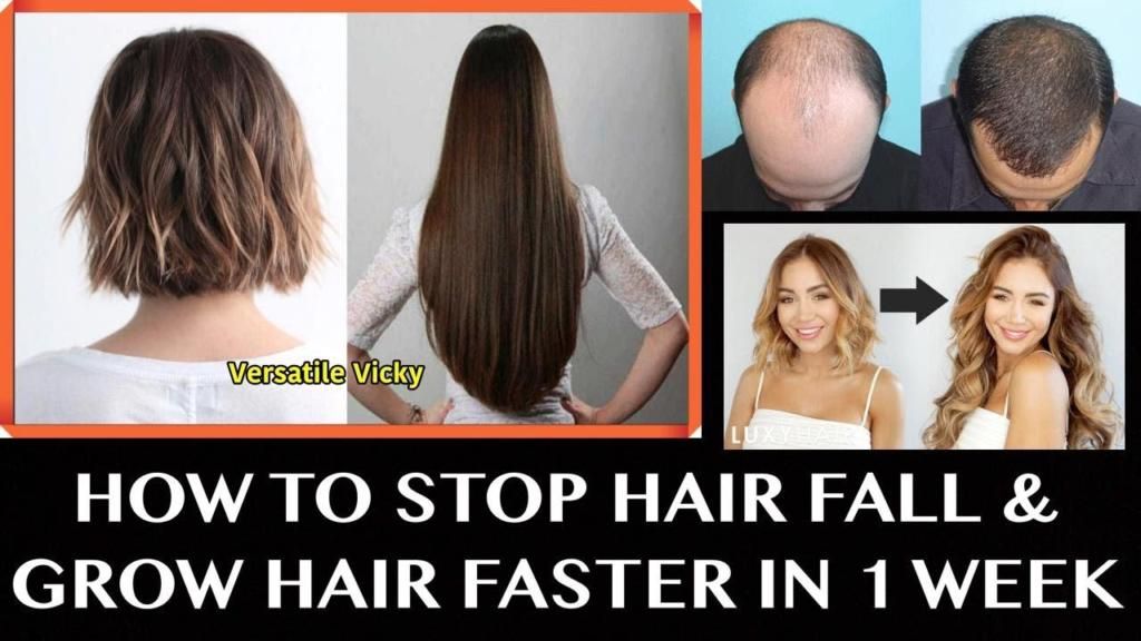 How to Stop Hair Fall and Grow Hair Faster in 1 Week 100 Works Full Day Diet Plan For Hair