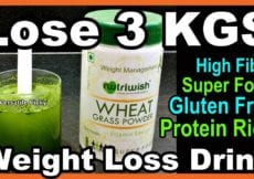 Lose 3 KGS in a Week Wheat Grass Powder Drink For Weight Loss Wheatgrass Benefits