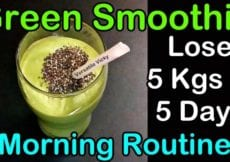 Green Smoothie For Weight Loss Lose 5 Kgs in 5 Days Weight Loss Drink Remedy Morning Routine