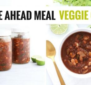 Easy Healthy Make Ahead Veggie Chili Meal Prep Idea For New Parents HealthyGroceryGirl.com