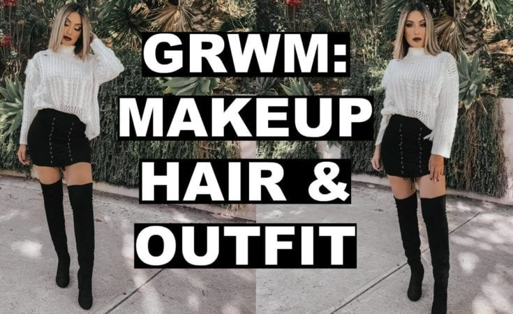 GET READY WITH ME FALL MAKEUP HAIR OUTFIT 2018