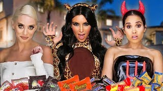 Trick or Treating at the Kardashian House