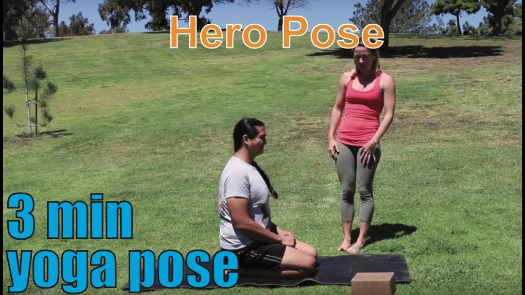 3 Minute Yoga Pose Hero Pose