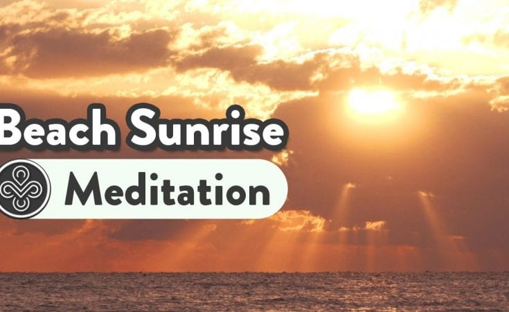 5 Minute Relaxing Meditation Music Instantly Relax Your Mind and Body Calming Sunrise Beach
