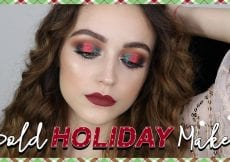 RED GREEN HOLIDAY MAKEUP LOOK