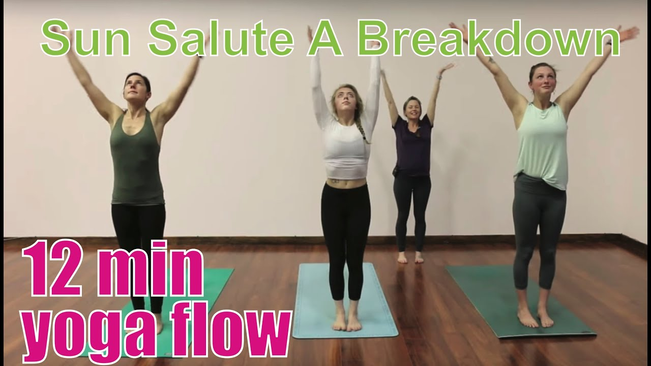 12 Minute Yoga Class San Salute A Breakdown