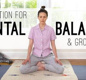 Meditation For Mental Balance and Grounding Yoga With Adriene