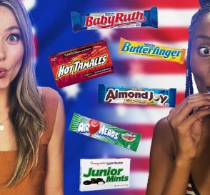 Australian Tries American Candy for the First Time Cheat Day