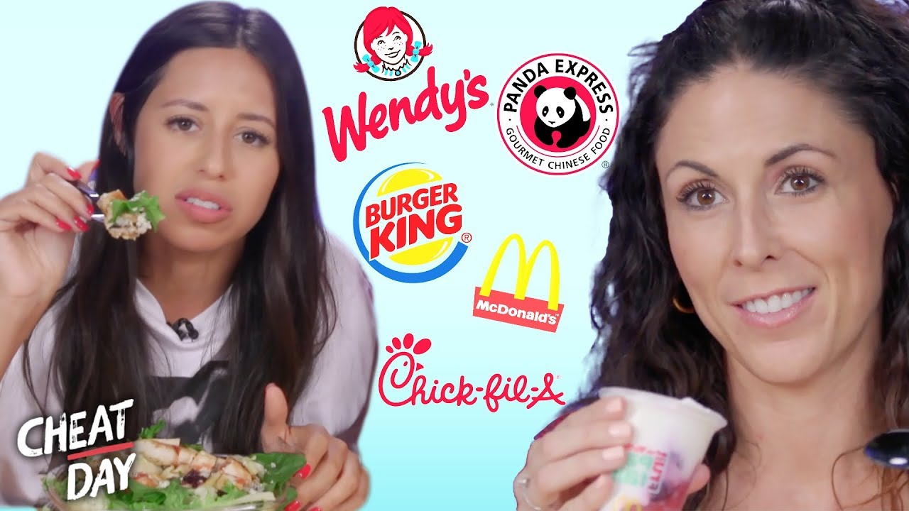 Trying the Healthiest Food from Every Fast Food Chain Cheat Day