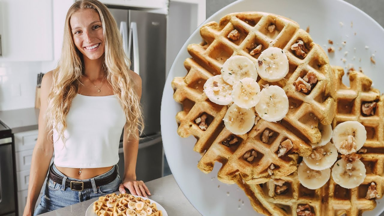 HOMEMADE WAFFLES RECIPE Easy Vegan High Protein