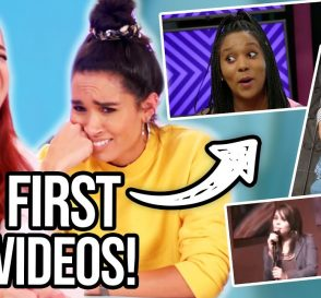 Reacting To Our First YouTube Videos Clevver Singing Comedy Embarrassing