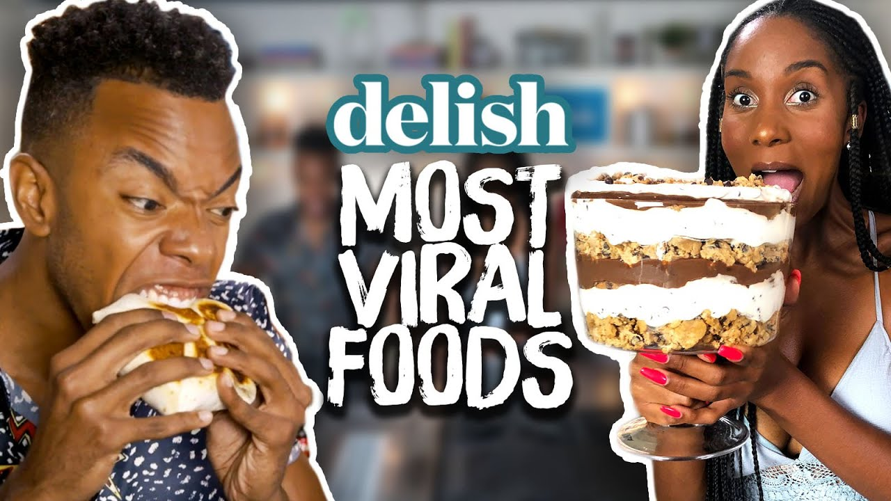 We Ate the MOST VIRAL Internet Foods in the Delish Kitchen Cheat Day
