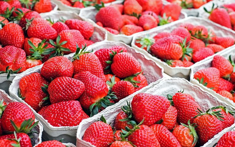 buy fresh strawberries and put them in the freezer so they are ready for your next smoothie