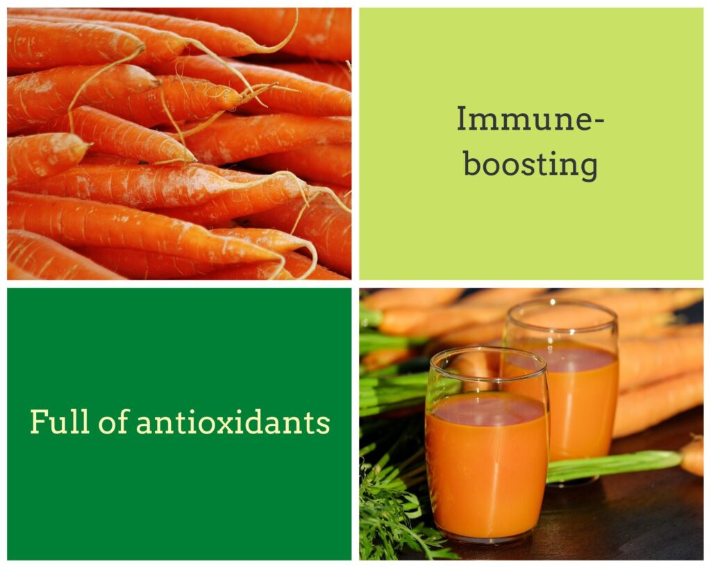 carrot juice with antioxidants