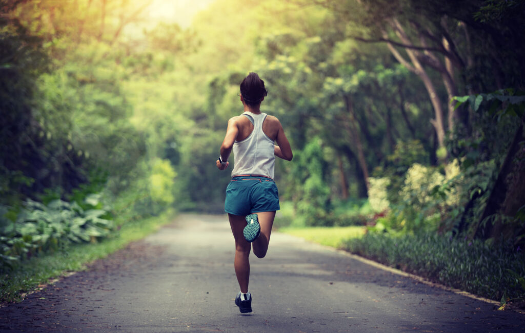 exercising and running give you lots of health benefits